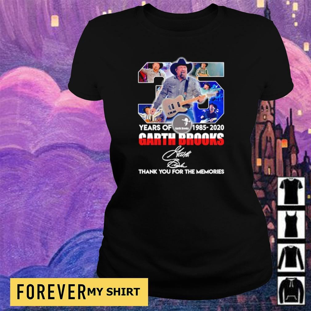 35 years of Garth Brooks thank you for the memories signature s ladies tee