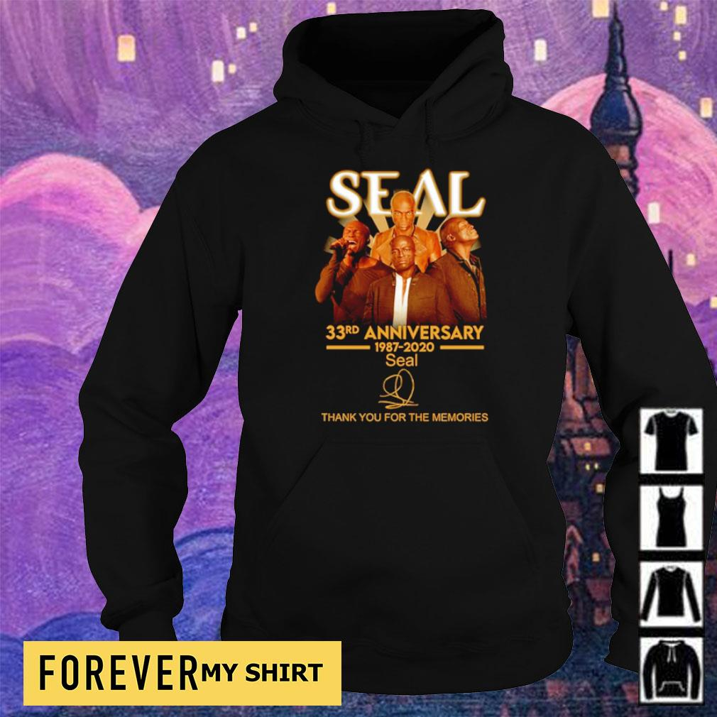 35 years of Seal thank you for the memories signature s hoodie