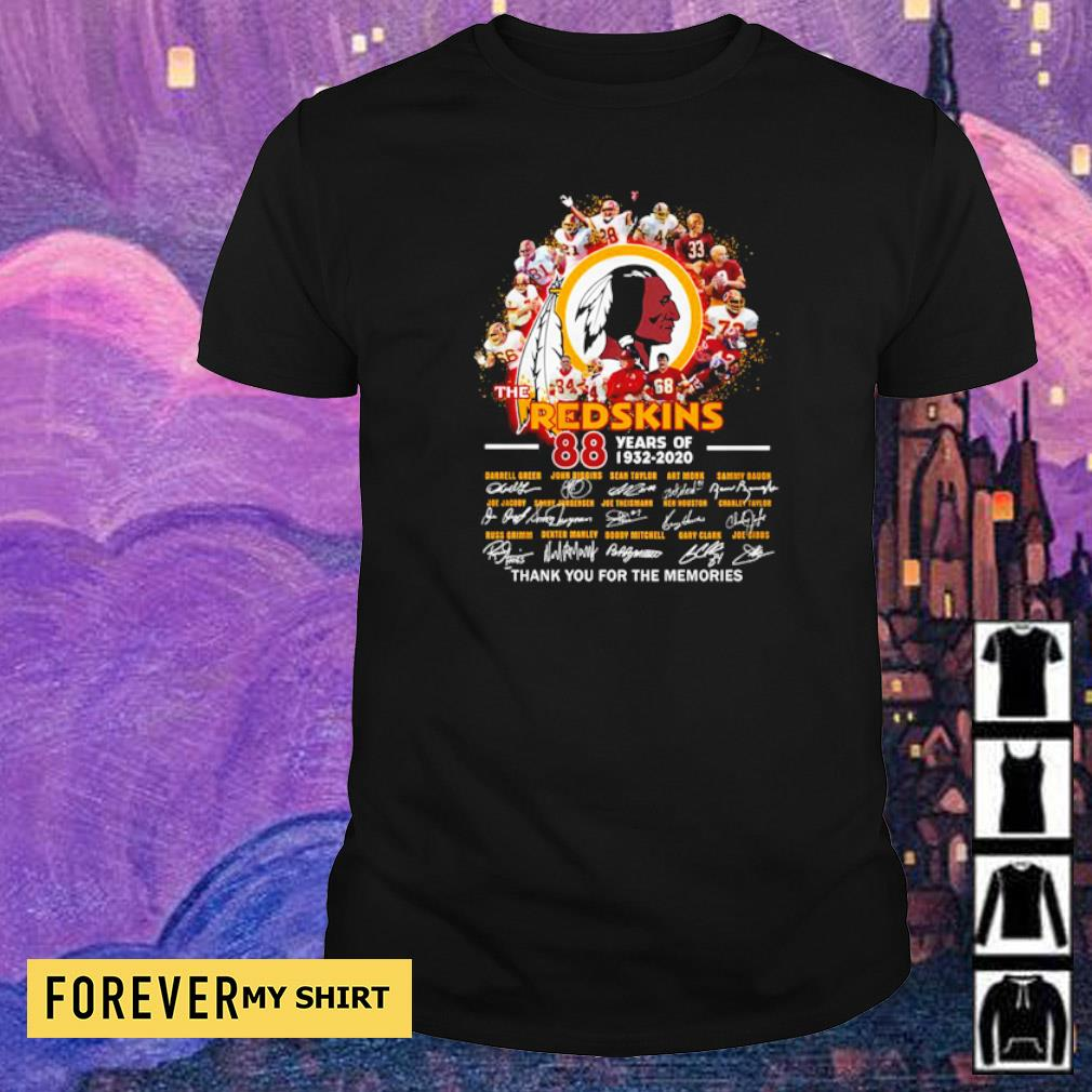 88 years of The Redskins thank you for the memories signatures shirt