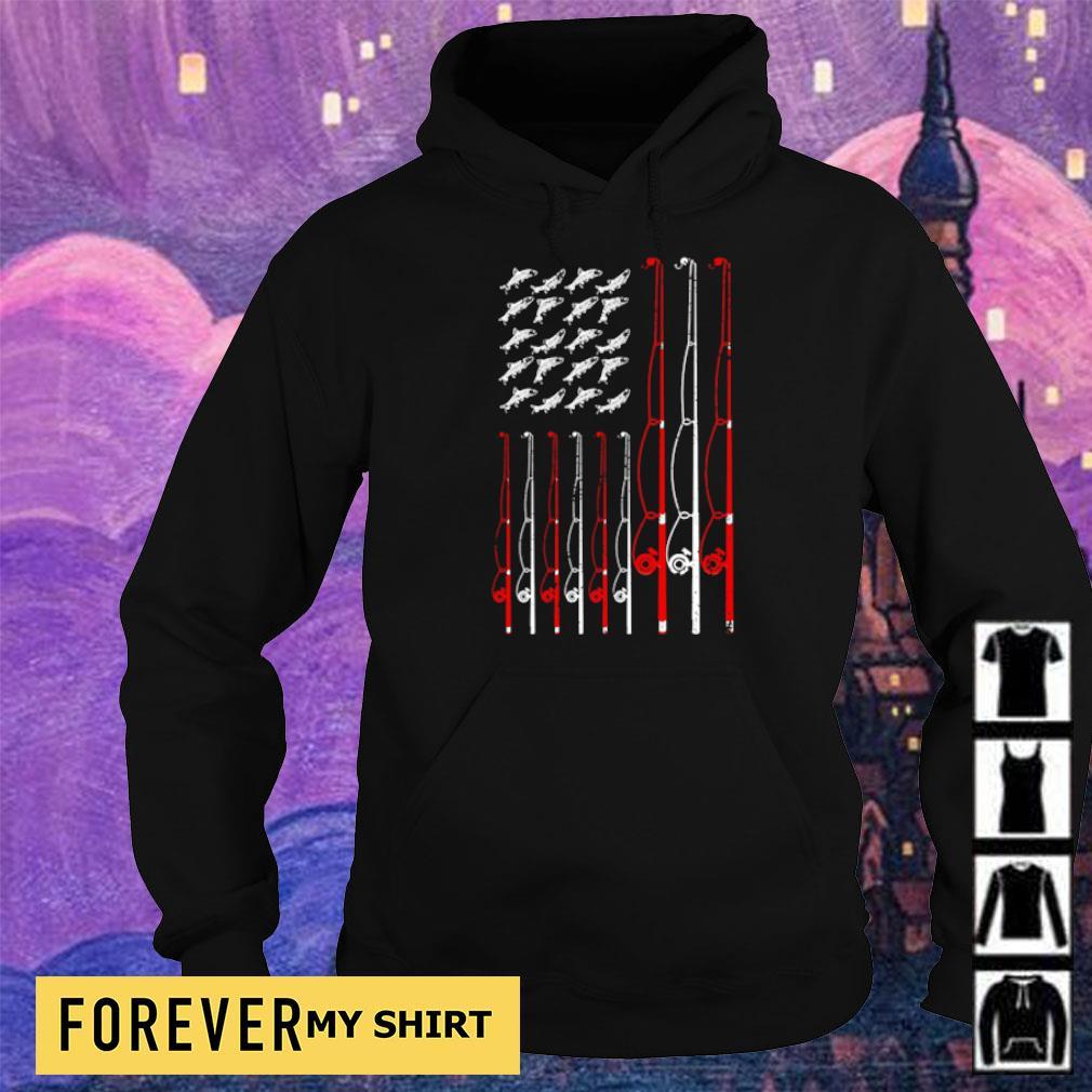 American Flag Fishing Rope s hoodie