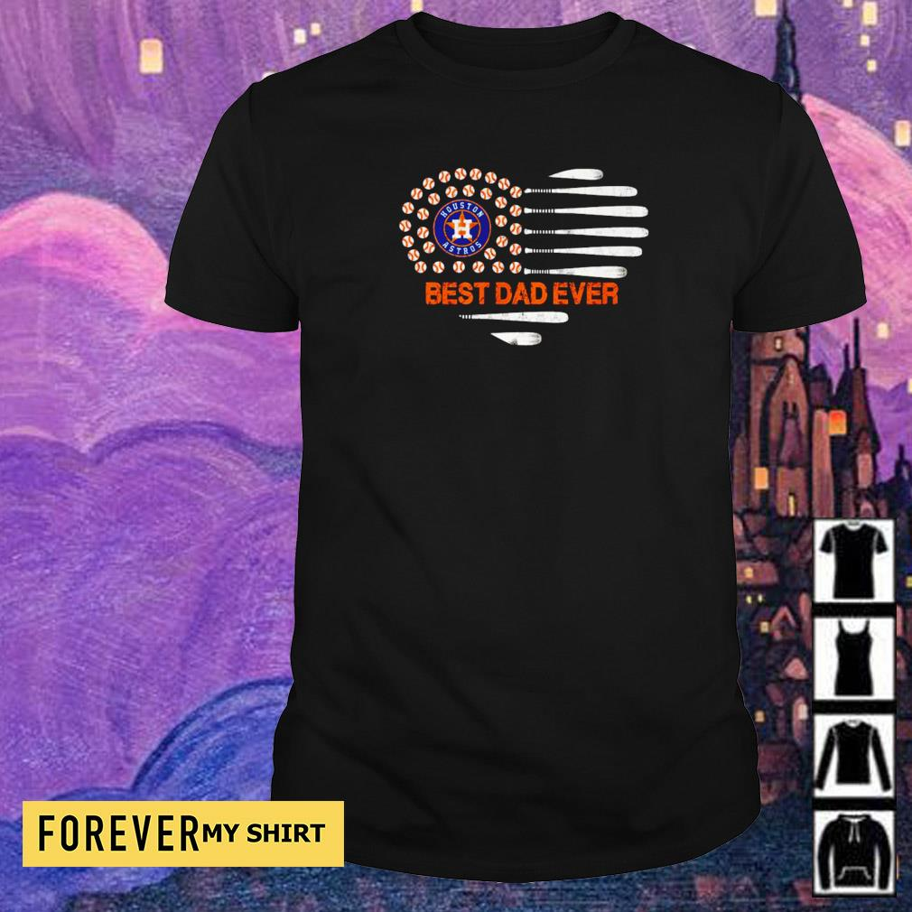 American Flag Houston Astros best dad ever shirt