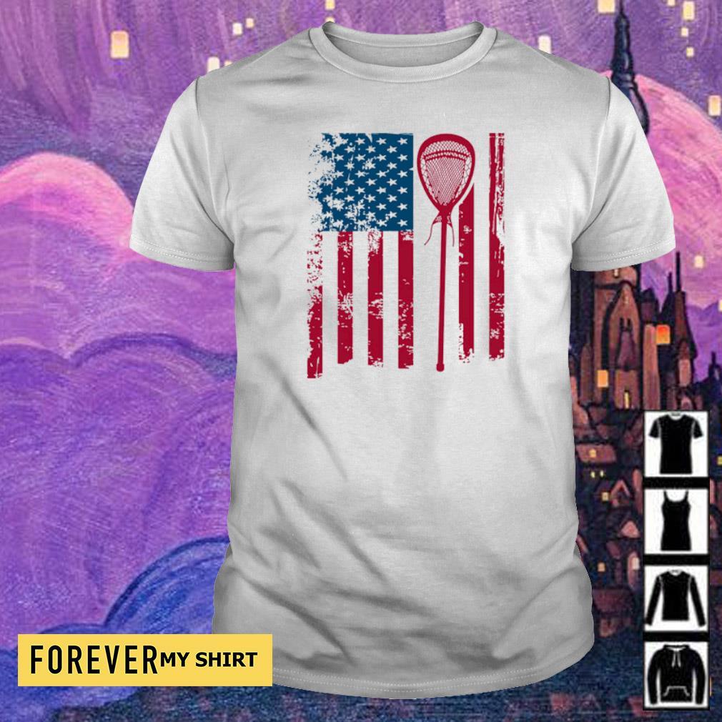 American Flag Softball shirt