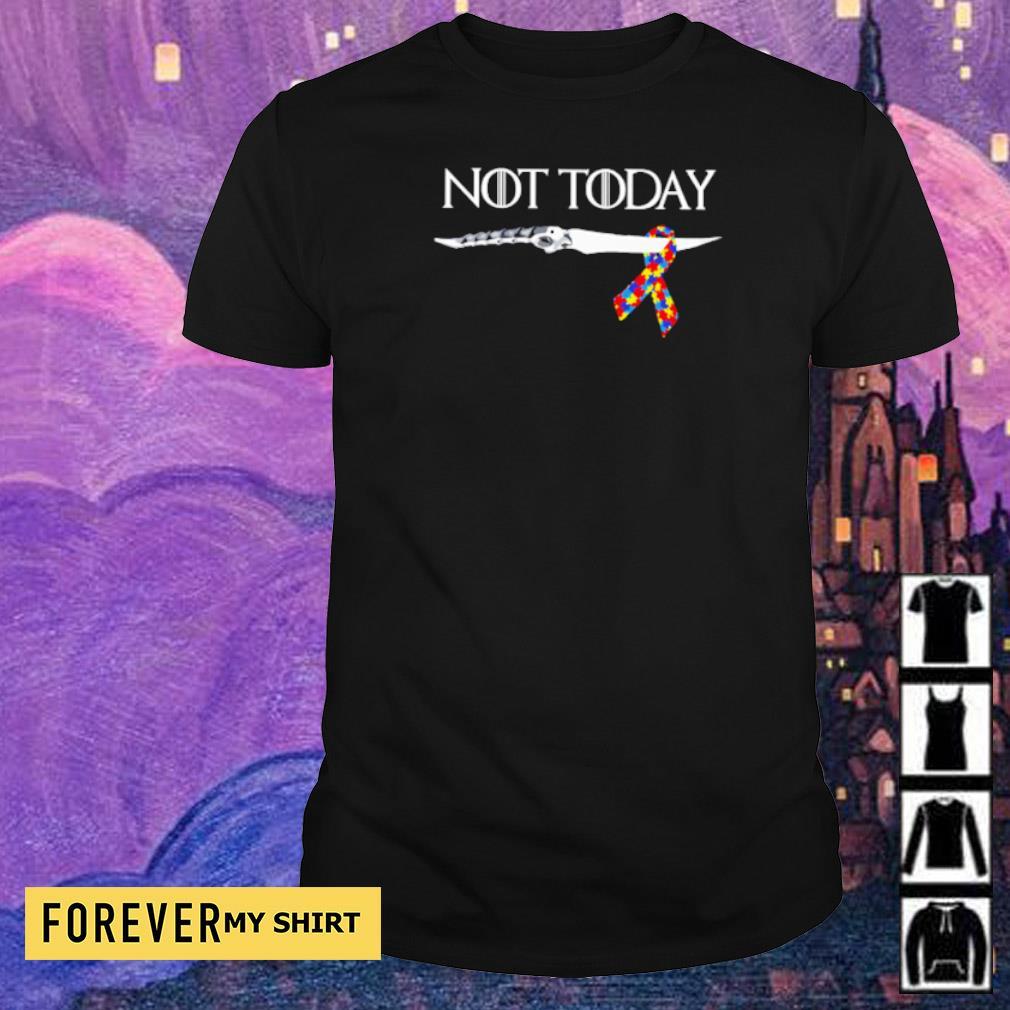 Autism Awareness knife not today shirt