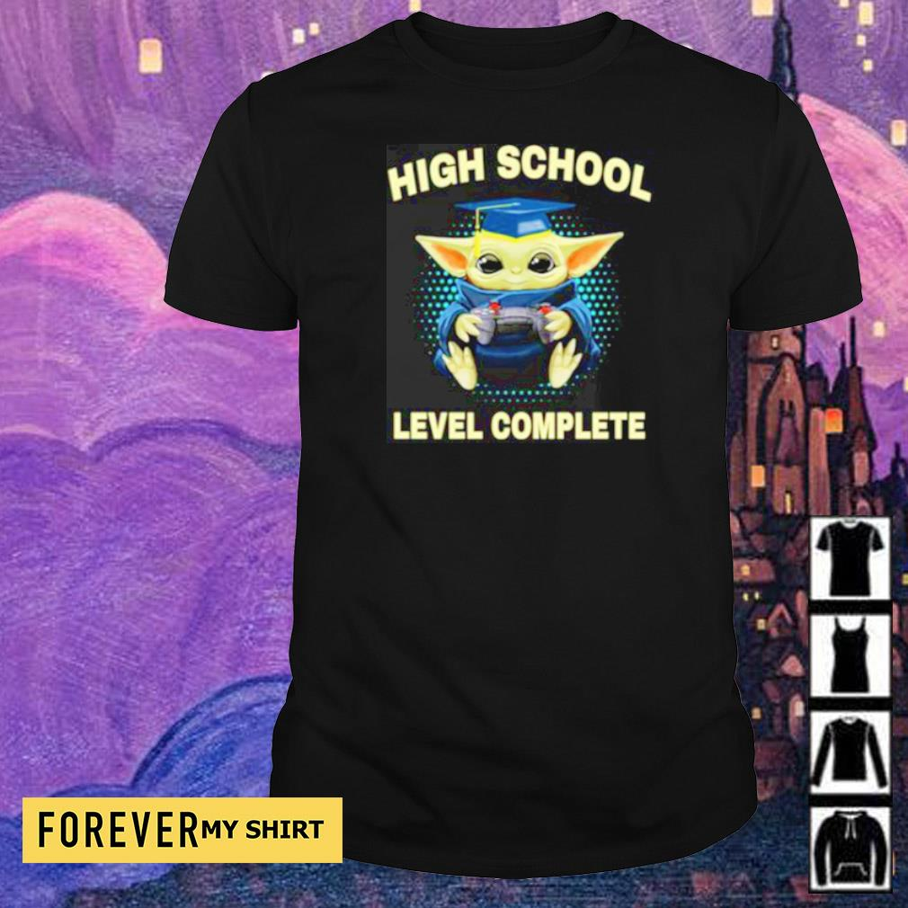 Baby Yoda high school level complete shirt