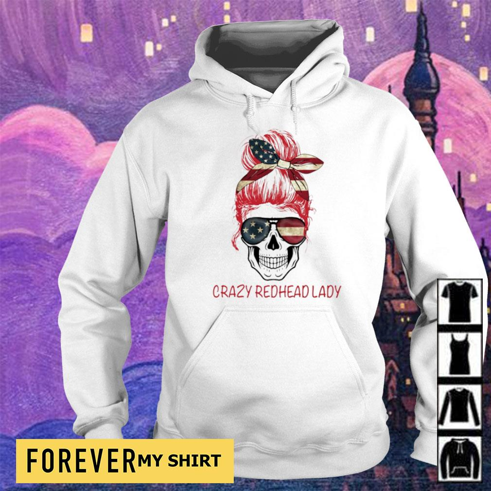 Crazy Redhead Lady Skull s hoodie