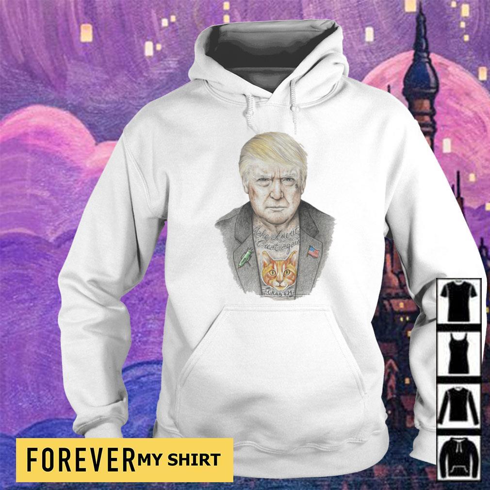 Donald Trump tattoos Make America Great Again s hoodie