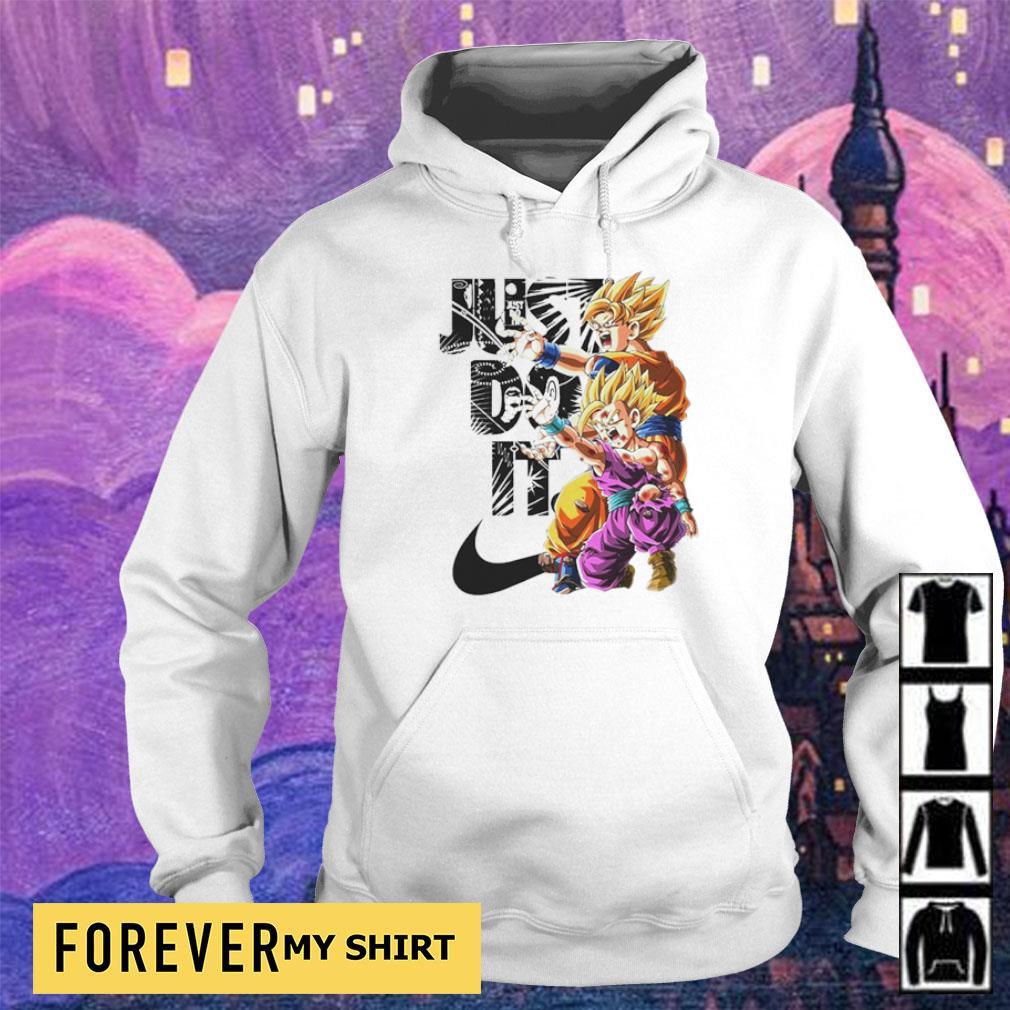 Dragon Ball Goku and Gohan Just Do It s hoodie