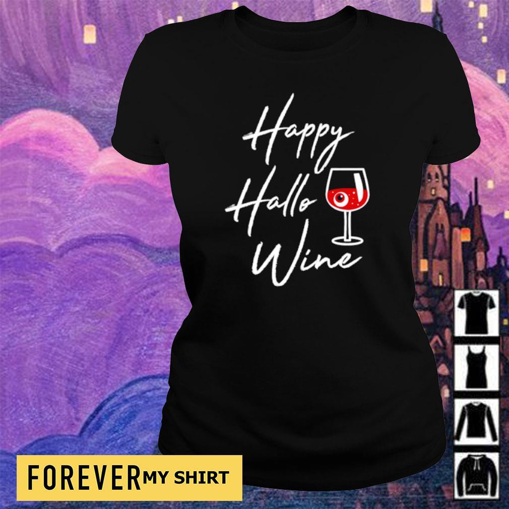 Happy Hallowine Halloween Drinking Gift s ladies tee