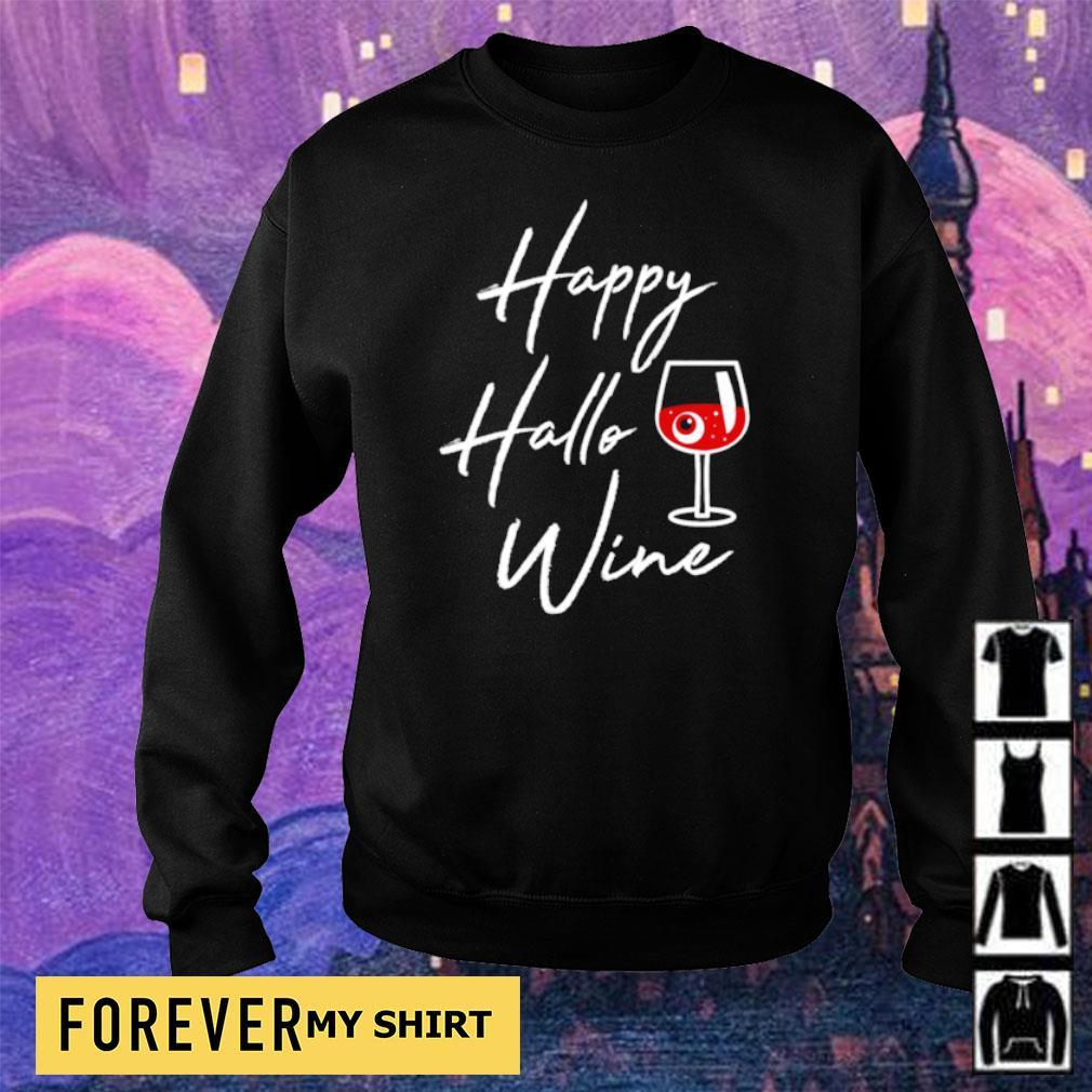 Happy Hallowine Halloween Drinking Gift s sweater
