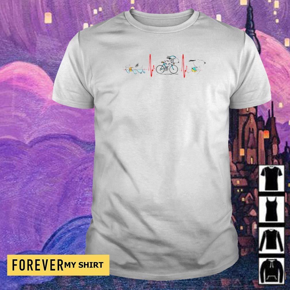 Heartbeat Snoopy walking bking running shirt
