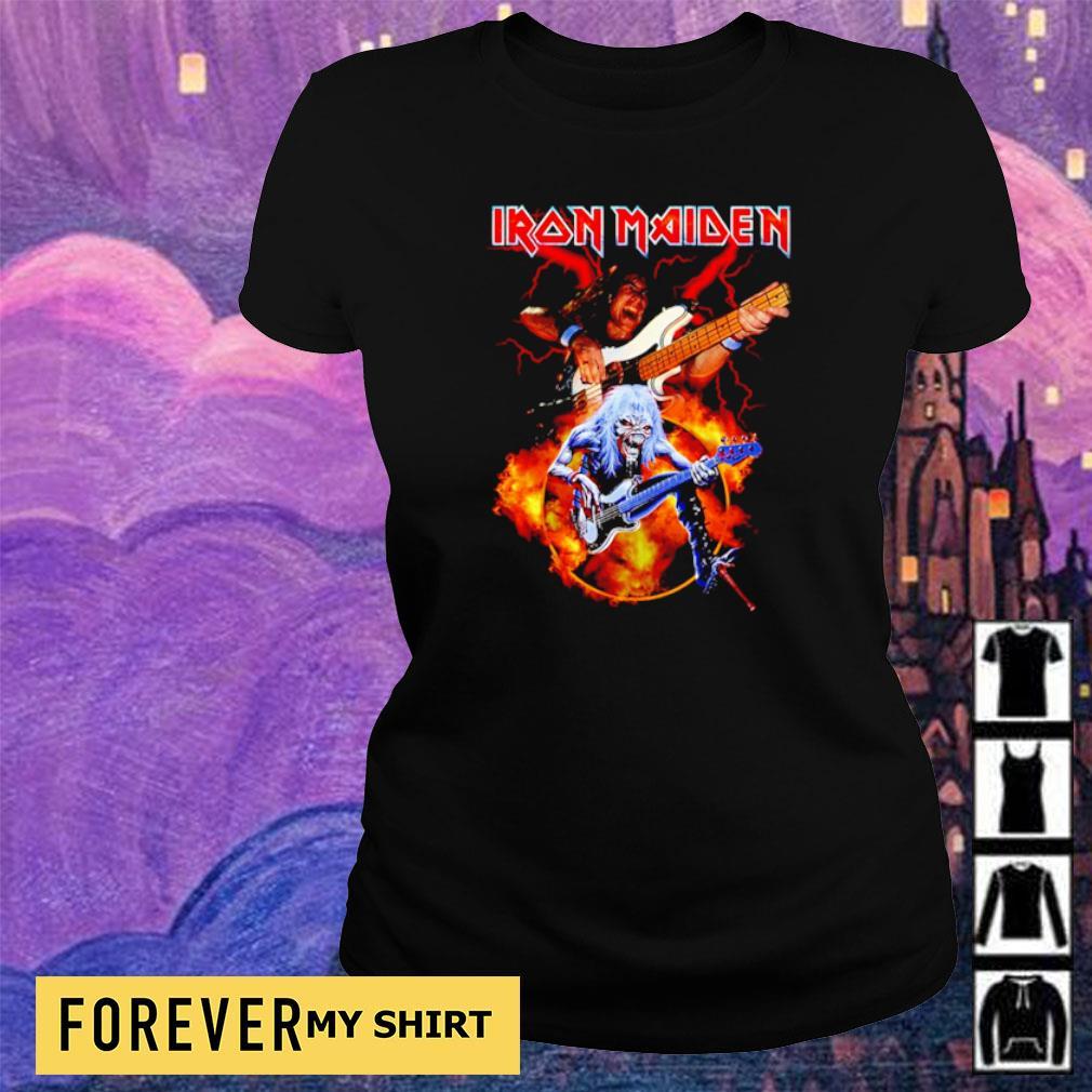 Iron Maiden guitar of the devils s ladies tee