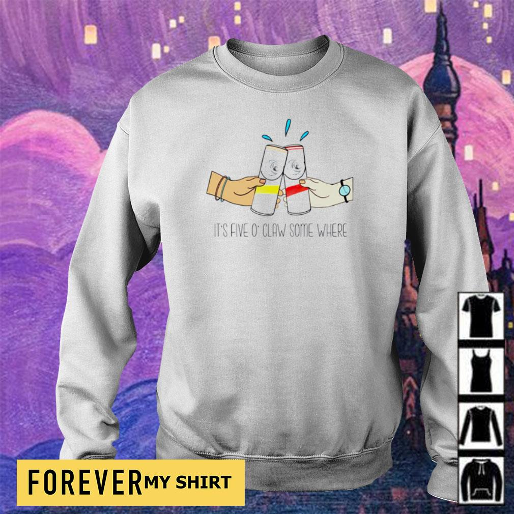 It's five O'Claw some where s sweater
