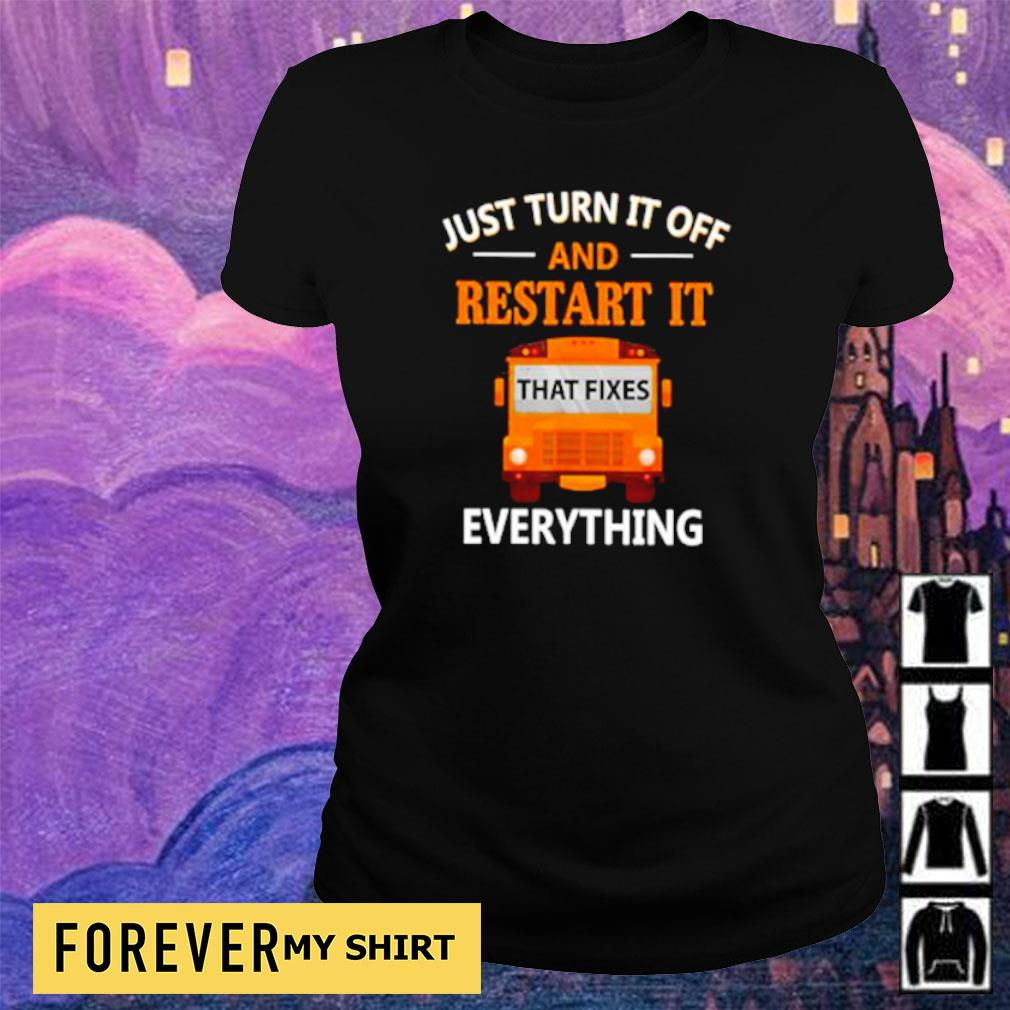 Just turn it off and restart it that fixes everything s ladies tee