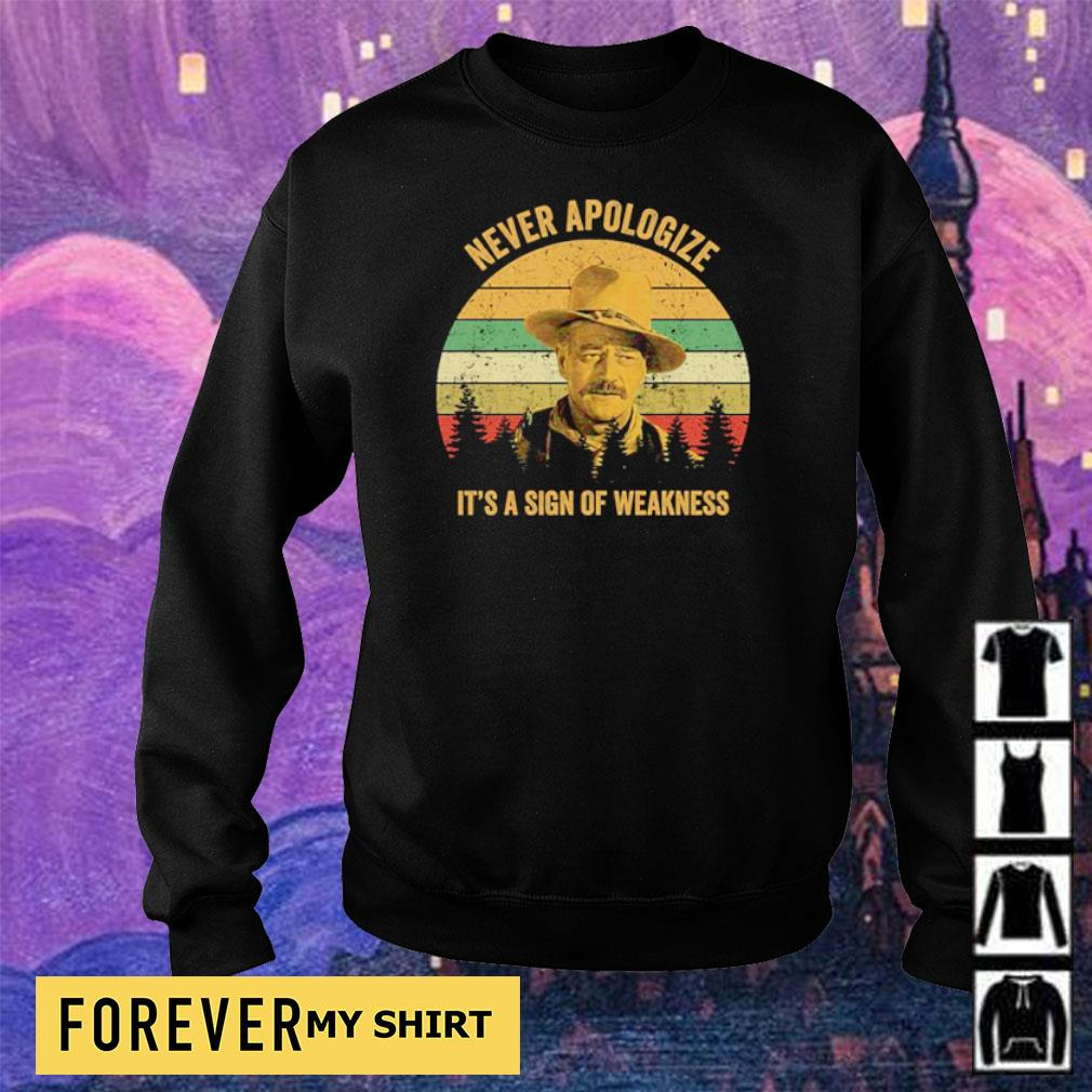 Never apologize it's a sign of weakness s sweater