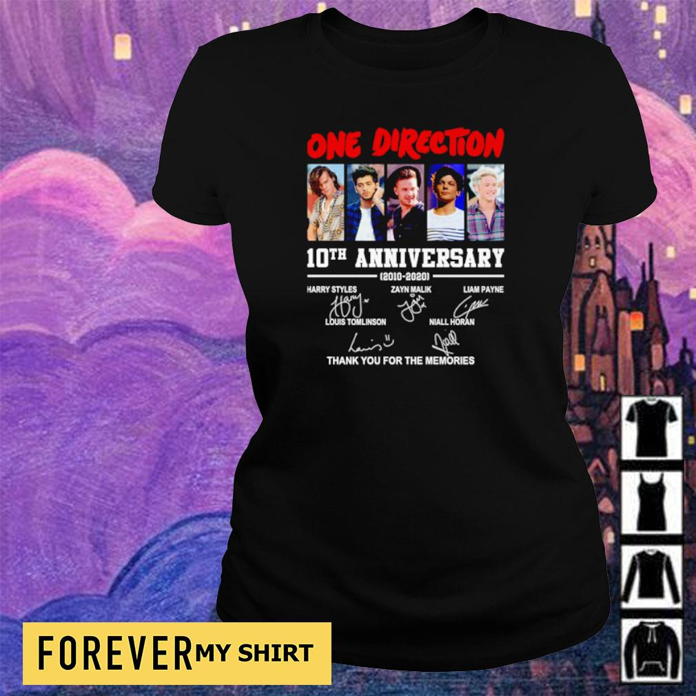One Direction 10th anniversary thank you for the memories s ladies tee