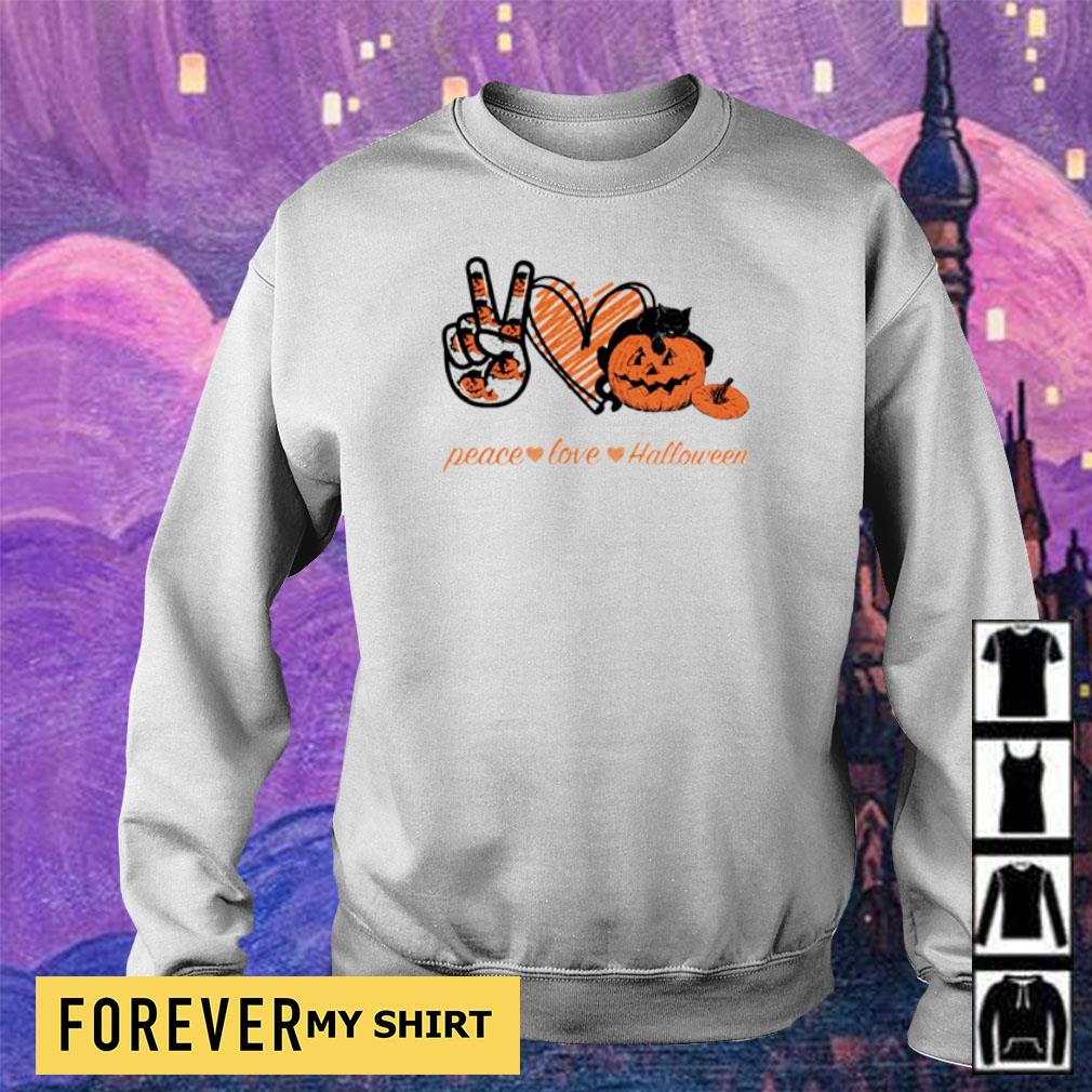 Peace love and Halloween s sweater