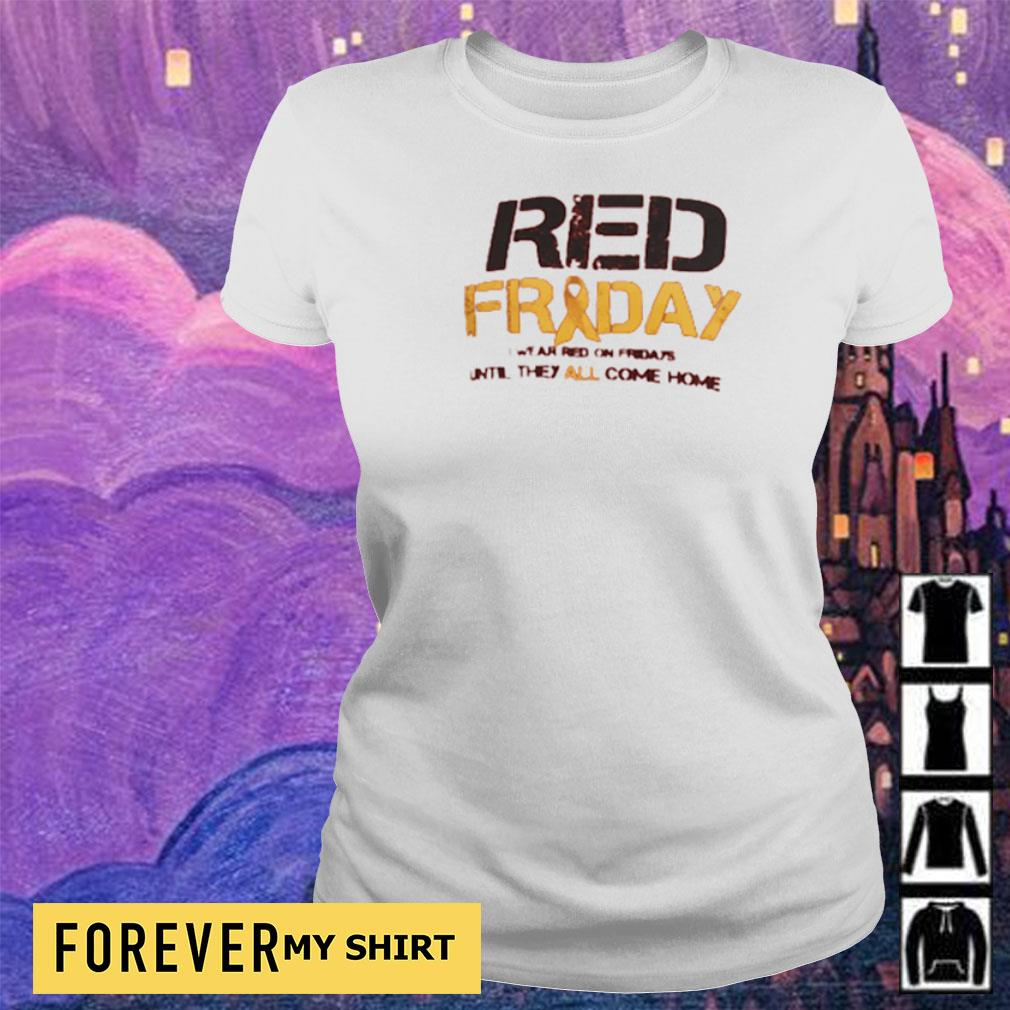 Red Friday red on fridays until they all come home s ladies