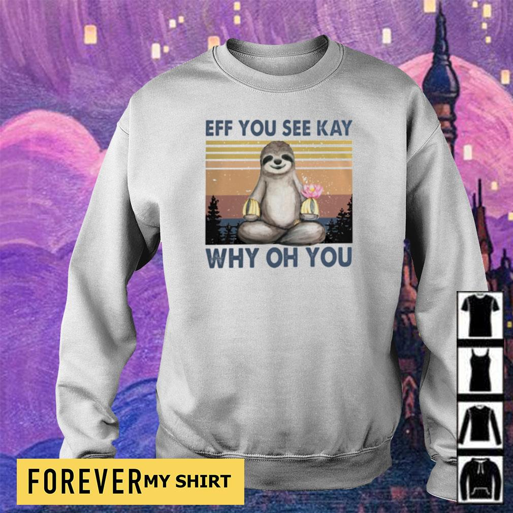 Sloth eff you see kay why oh you vintage s sweater