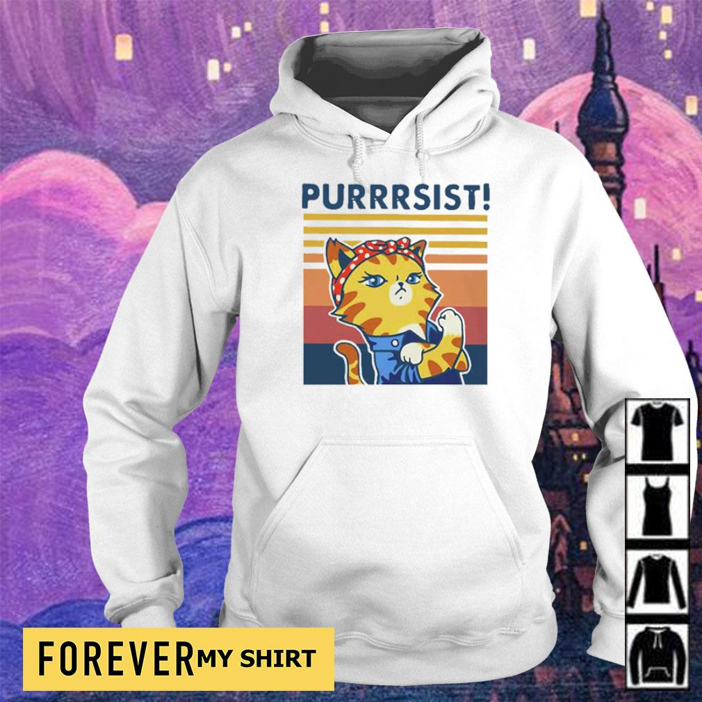 Strong Cat Purrsist Vintage Shirt hoodie