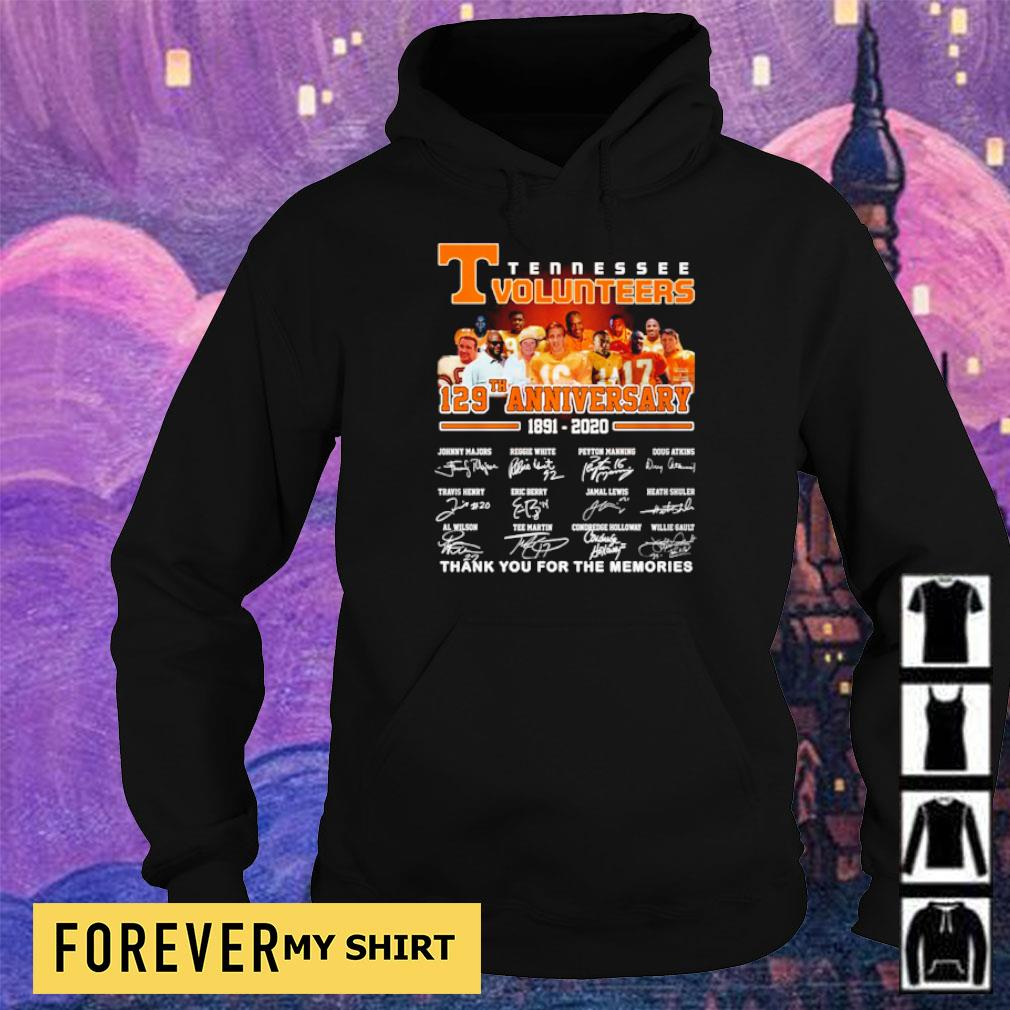 Tennessee Volunteers 127th anniversary thank you for the memories s hoodie