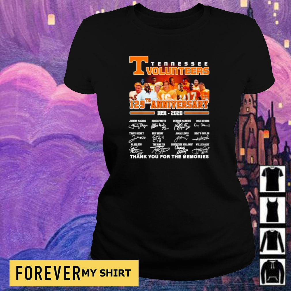 Tennessee Volunteers 127th anniversary thank you for the memories s ladies tee