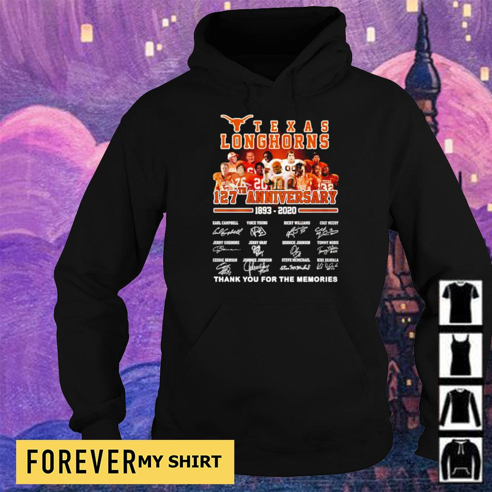 Texas Longhorns 127th anniversary thank you for the memories s hoodie