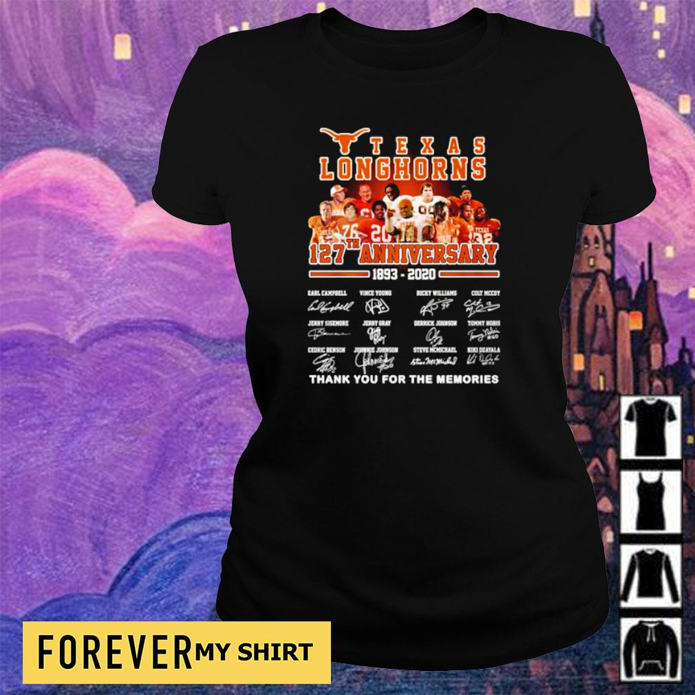 Texas Longhorns 127th anniversary thank you for the memories s ladies tee