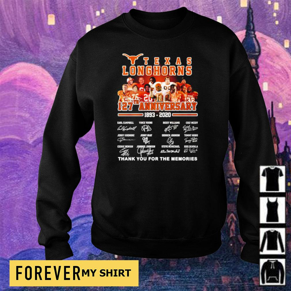 Texas Longhorns 127th anniversary thank you for the memories s sweater