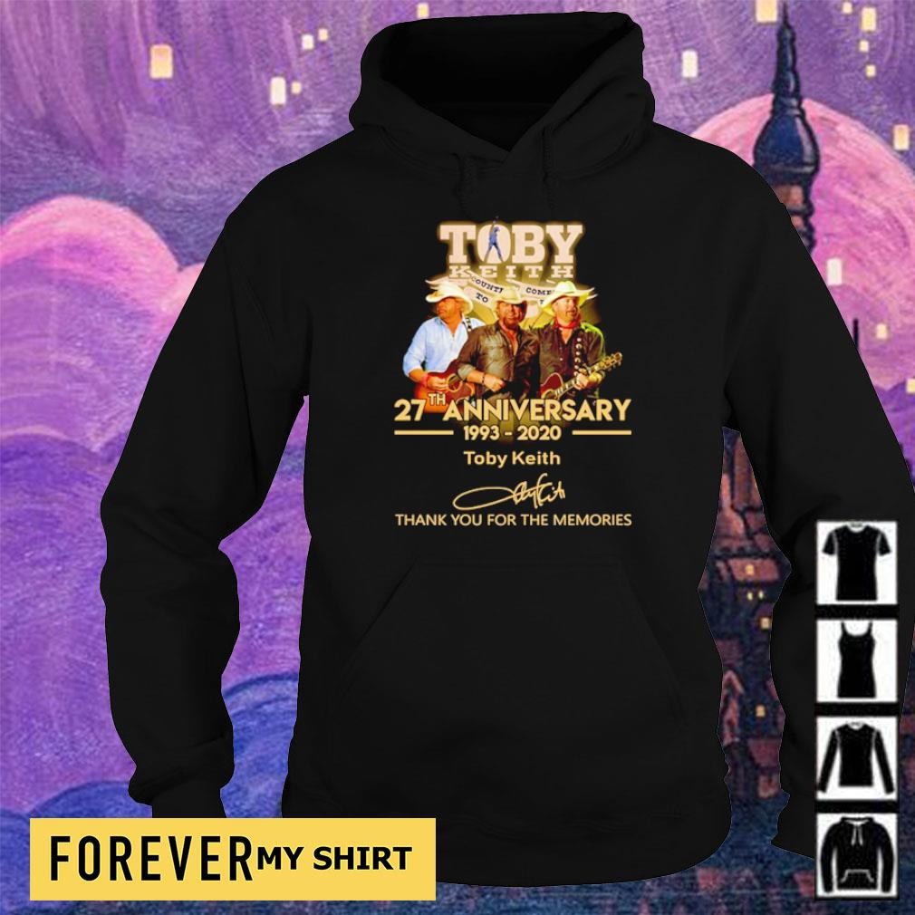 Toby Keith 27th anniversary thank you for the memories s hoodie