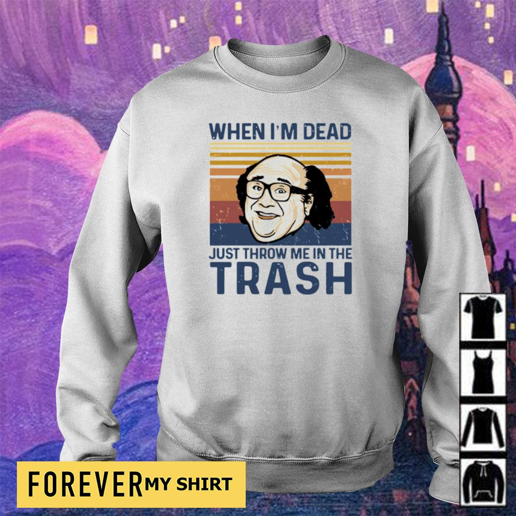 When I'm dead just throw me in the trash vintage s sweater