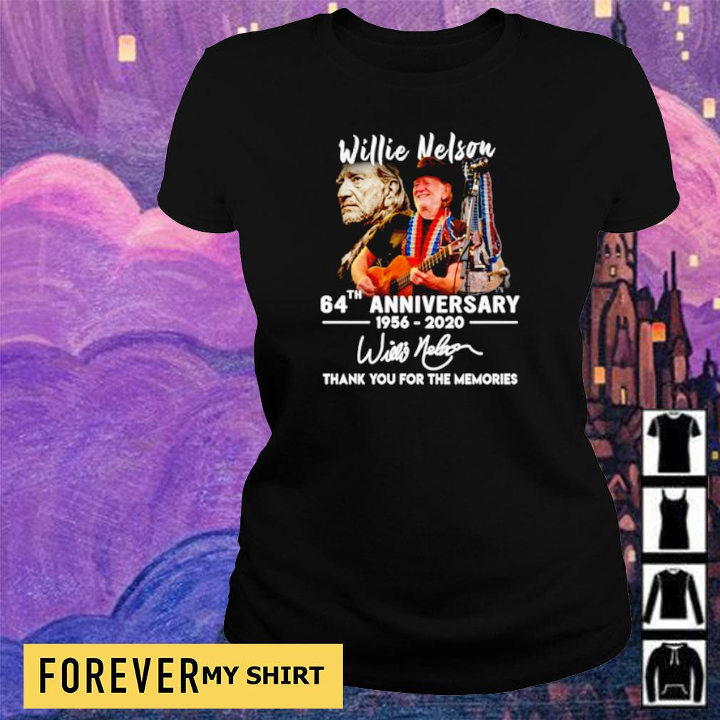 Willie Nelson 64th anniversary thank you for the memories s ladies tee