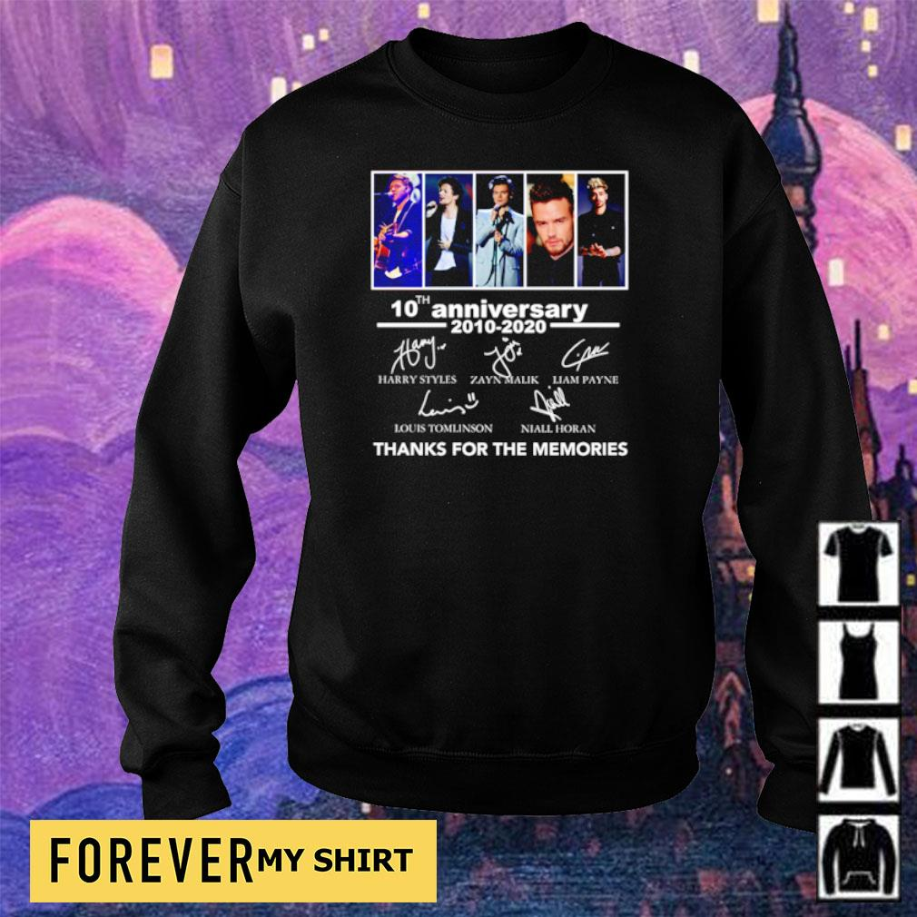 10th anniversary of One Direction thanks for the memories s sweater