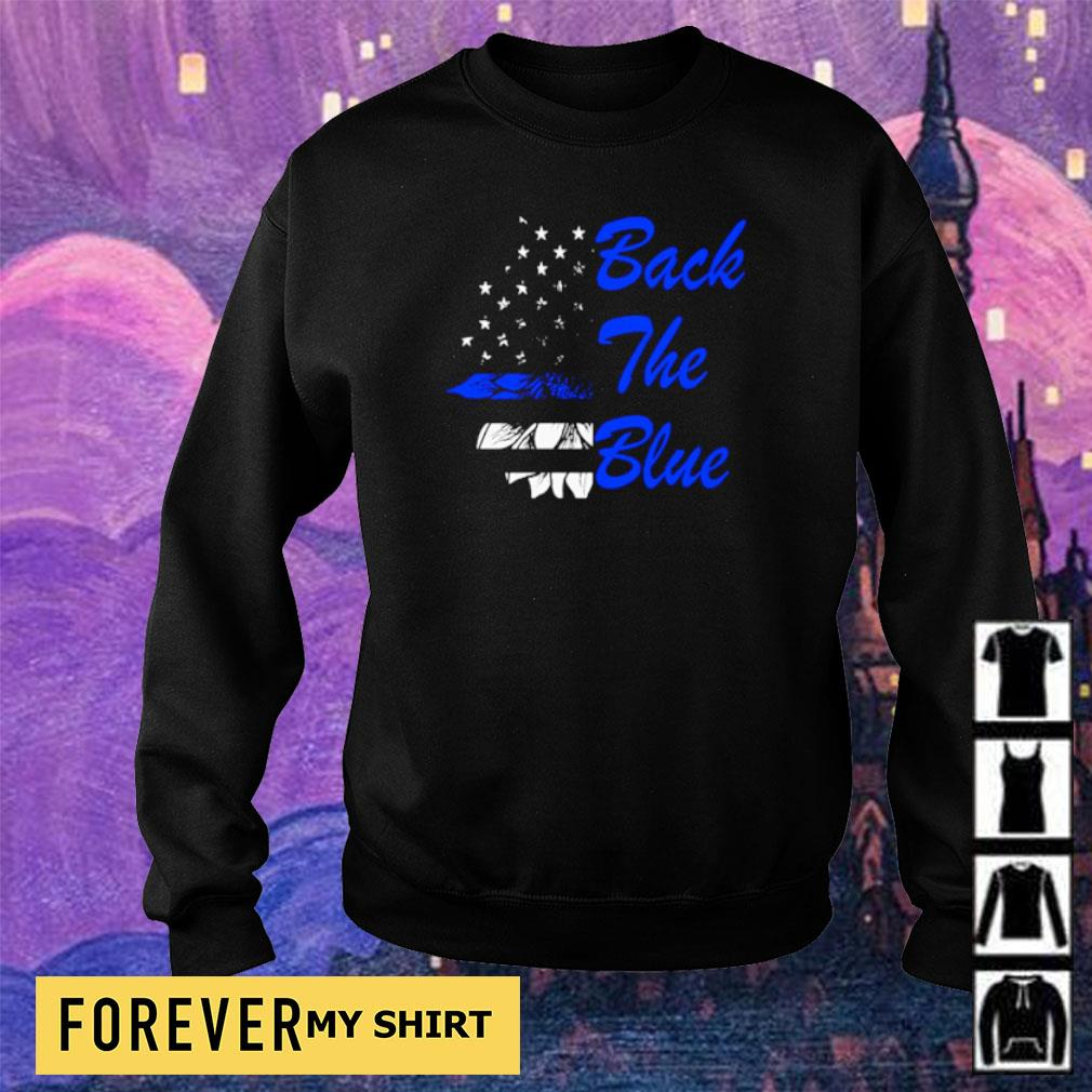 American Flag Back The Blue s sweater