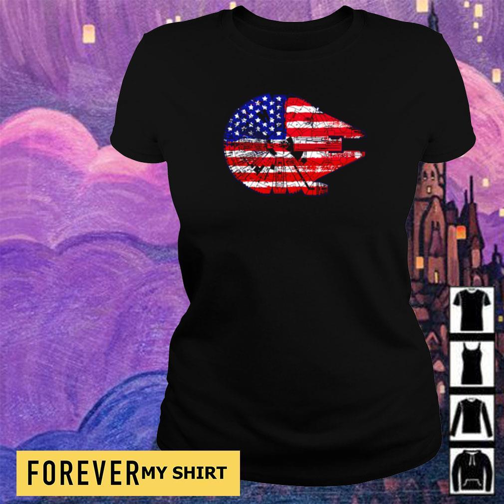 American Flag Death Star s ladies tee
