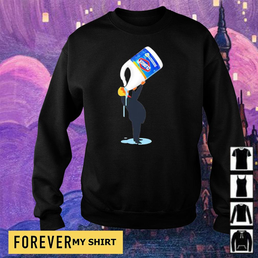 Donald Trump drinking Clorox s sweater