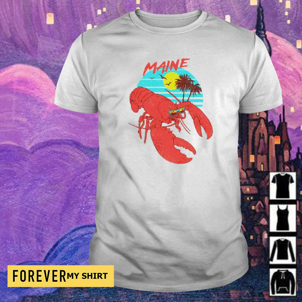 Lobster maine beach vintage shirt