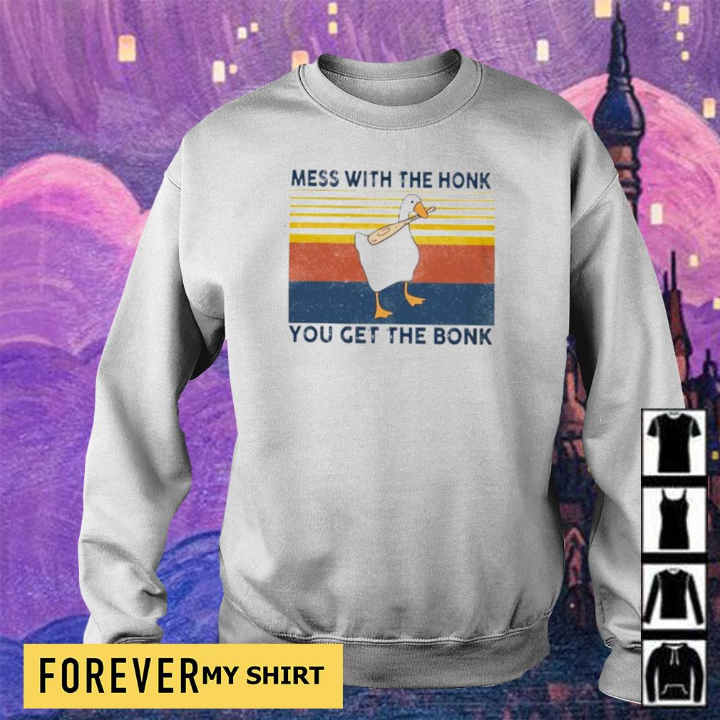 Mess with the honk you get the bonk Duck vintage s sweater