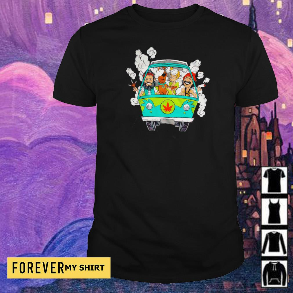 Scooby-Doo and Friends chilling in minivan shirt