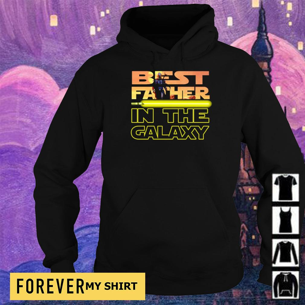 Star Wars The Mandalorian best father in the galaxy s hoodie