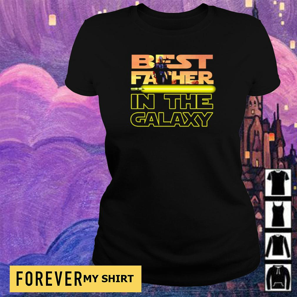 Star Wars The Mandalorian best father in the galaxy s ladies tee