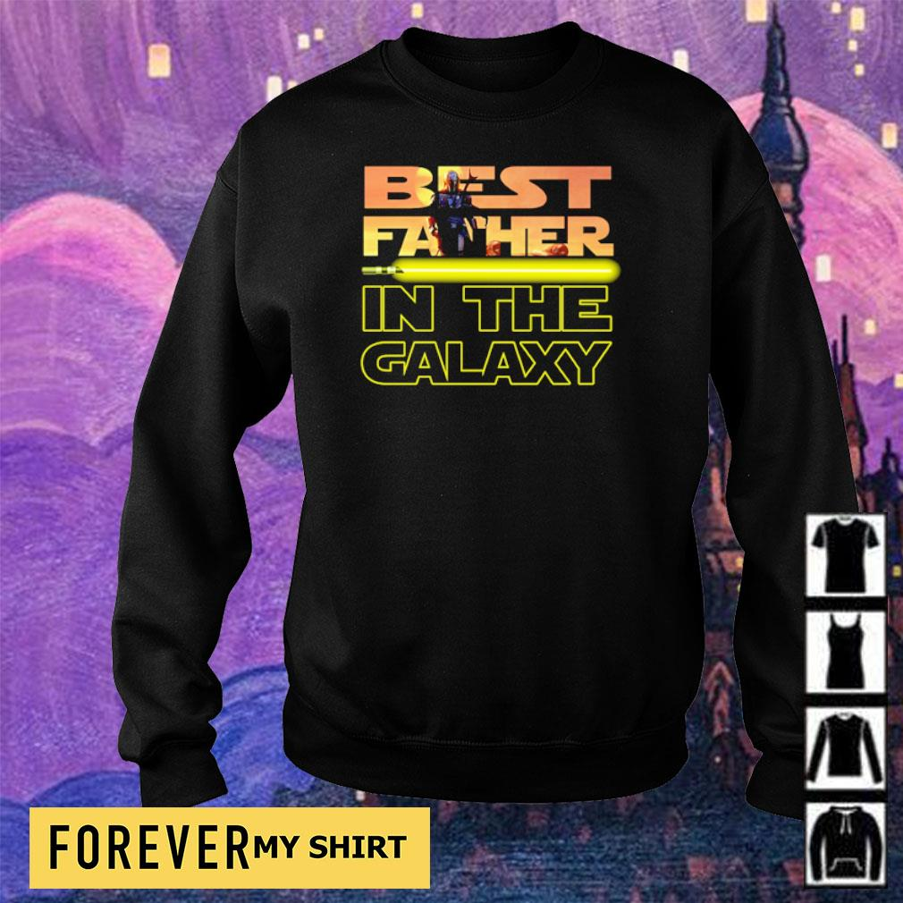 Star Wars The Mandalorian best father in the galaxy s sweater