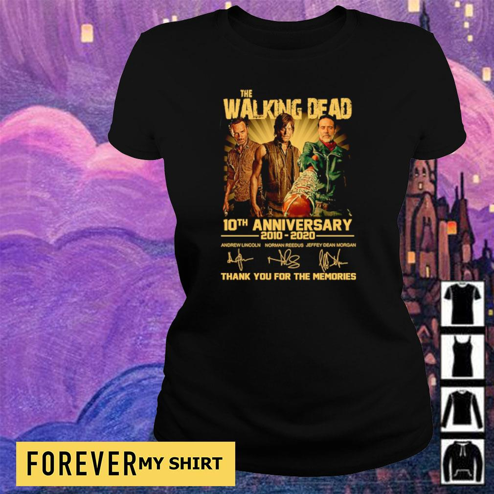 The Walking Dead 10th anniversary thank you for the memories s ladies tee
