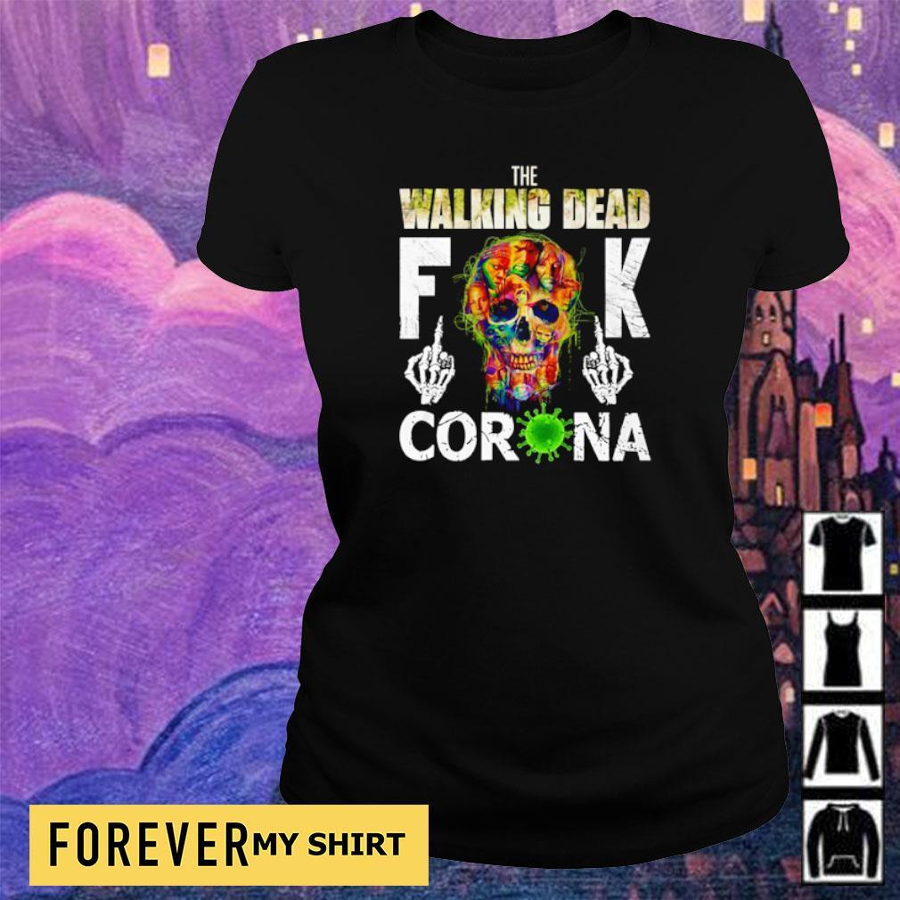 The Walking Dead fuck corona s ladies tee