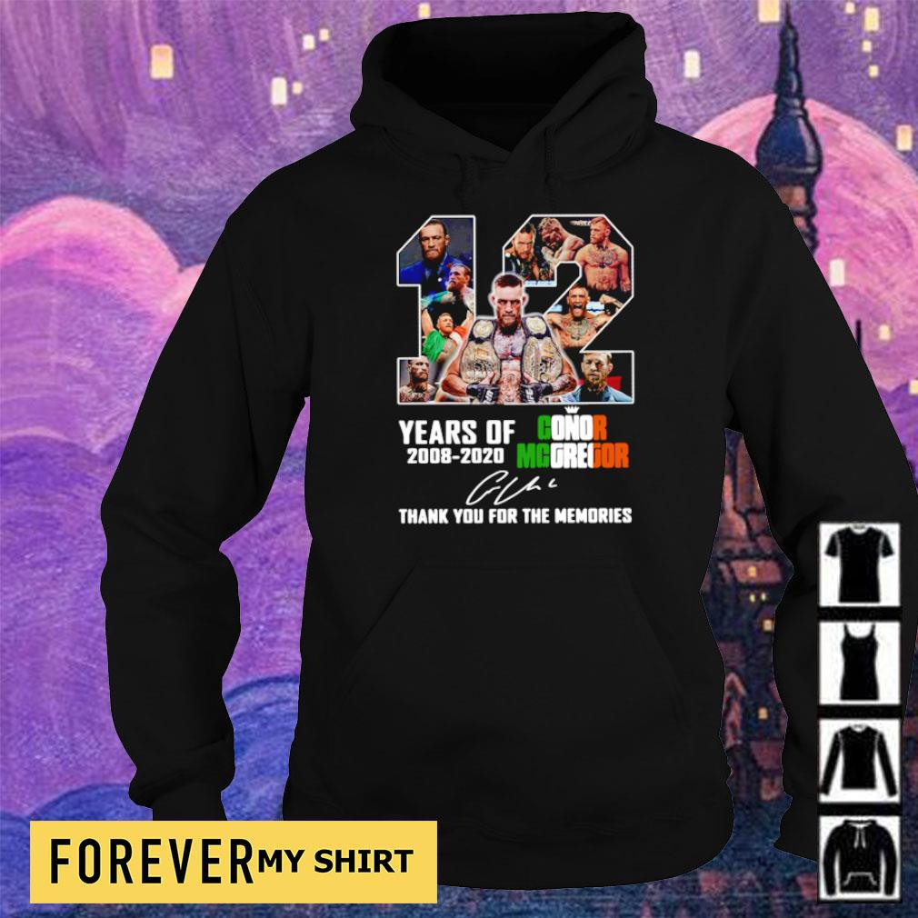 12 years of Conor Mcgregor signature thank you for the memories s hoodie