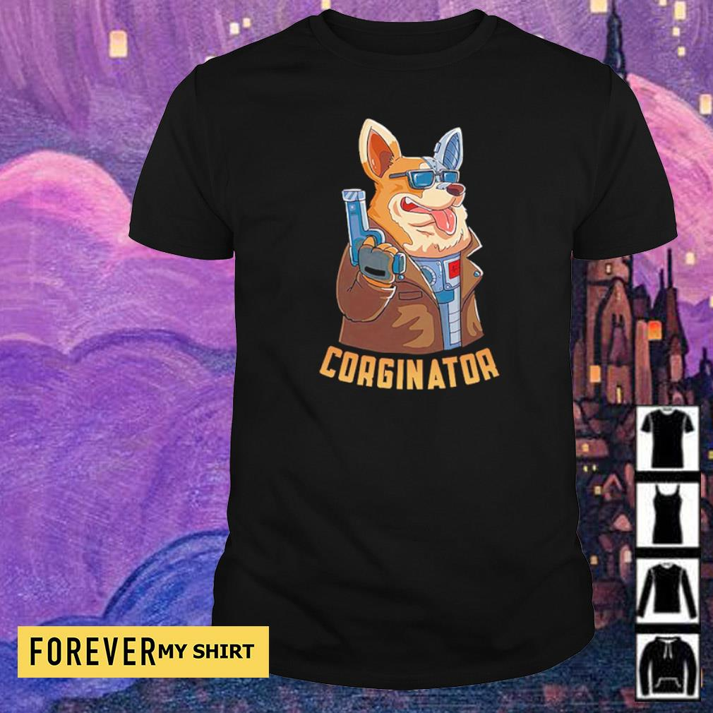 Awesome Corgi The Corginator in Terminator shirt