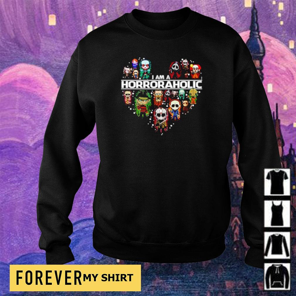 Horror chibi characters I am a Horroraholic s sweater
