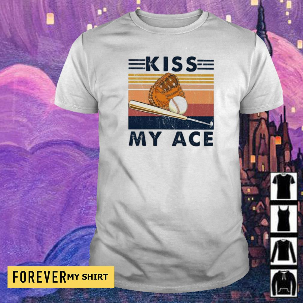 Softball kiss my ace vintage retro shirt