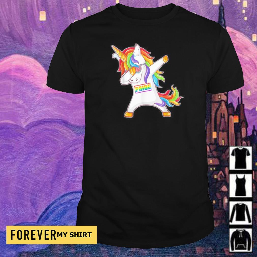 Unicorn dabbing pride LGBT shirt