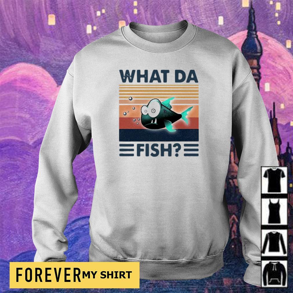 WTF what da fish vintage s sweater