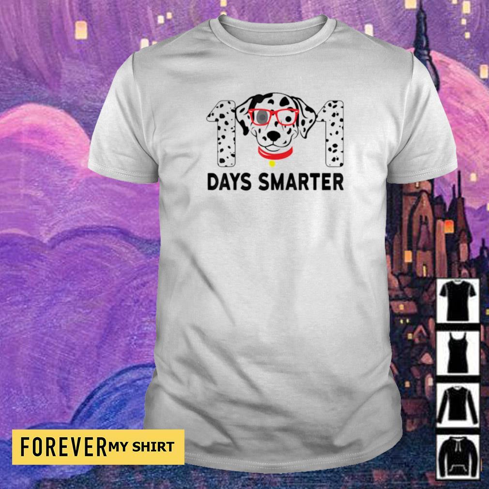 101 days smarter dalmation dog teachers shirt